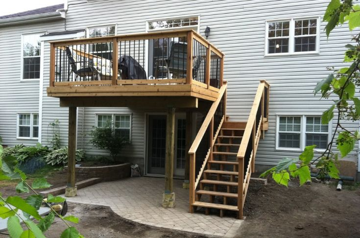 75 best all decked out images on pinterest backyard for Second floor deck ideas