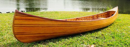 Cedar Strip Built Canoe Wooden Boat 12' Woodenboat USA For Sale