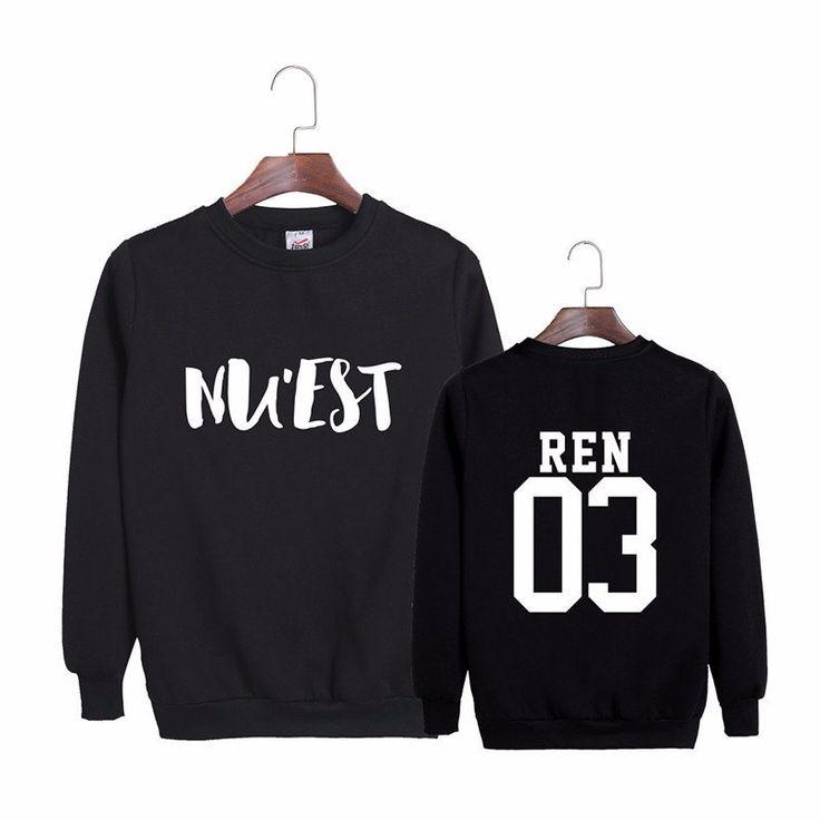NU'EST Ren 03 Maknae Canvas K-POP Hip Hop Black White Cool Sweatshirt #NUEST #Ren #Maknae #Canvas #KPOP #HipHop #Black #White #Cool #Sweatshirt #KIDOLSTUFF