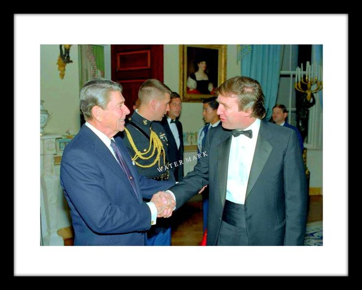 Donald Trump and President Ronald Reagan 11x14 Photo Print US USA | Collectibles, Historical Memorabilia, Political | eBay!