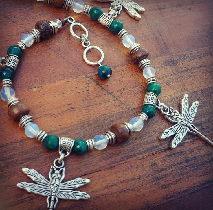 10 best st anklets images on pinterest bohemian gypsy boho gypsy energy charged opal jasper stone crystal anklet with wood and dragonfly chunky charms hippie fandeluxe Image collections