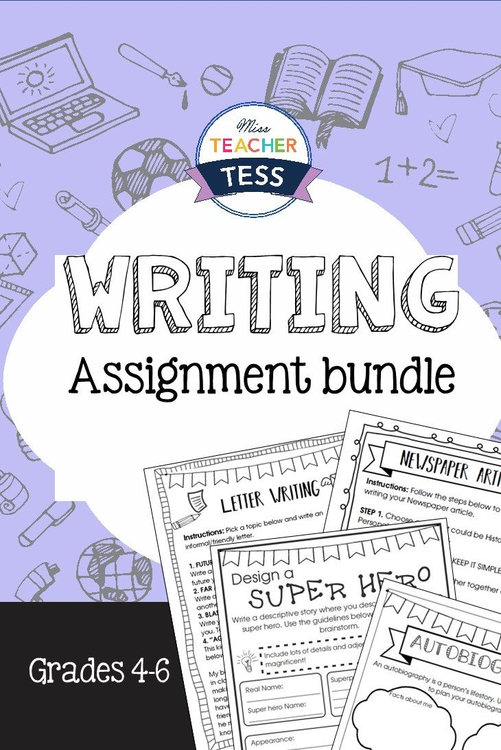 Writing bundle with a variety of different writing assignments: letter writing, descriptive, autobiography, article. Perfect for 4th Grade, 5th Grade, 6th Grade