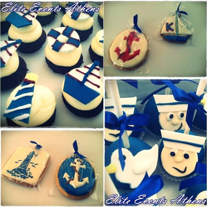 Elite Events Athens team is ready to 'sail' for an amazing 'navy themed' baptism at Korinthos... 'All aboaaaaard'   eliteeventsathhens destination baptism Korinthos navy theme nautical blue white cakepops cupcakes cookies biscuits sailors seagull eventmplanning