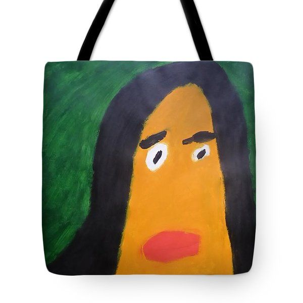 Patrick Francis - Tote Bag featuring the painting Portrait Of Woman With Hair Loose 2015 - After Vincent Van Gogh by Patrick Francis