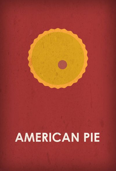 American Pie (1999) ~ Minimal Movie Poster by Fugion #amusementphile