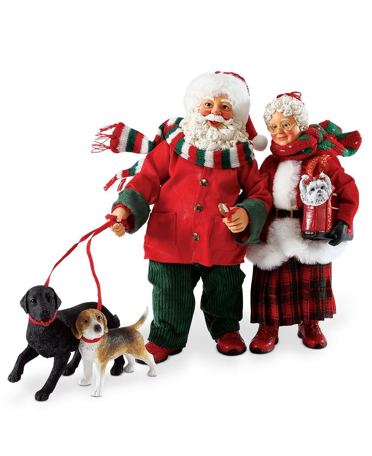SANTAGoing For A W L K Mr And Mrs Claus Know Better Than To Say The Word WALK Out Loud In Front Of Their Three Dogs Safer Spell It As They Get