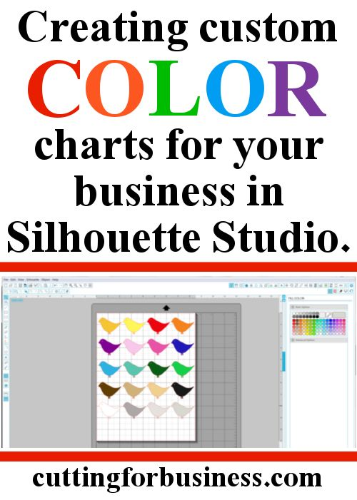 How To Create Custom Color Charts In Silhouette Studio
