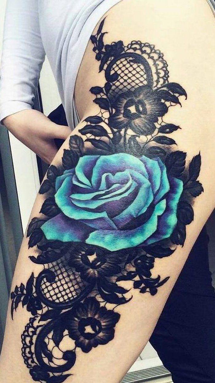 Tatu Kruzhevo 19 Tys Izobrazhenij Najdeno V Yandeks Kartinkah Lace Flower Tattoos Blue Flower Tattoos Rose Tattoos