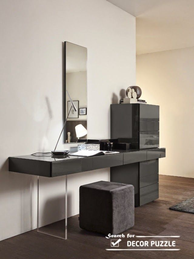 Swing Console Unit With Black Velvet Jewellery Drawers By Presotto, Italy.  Manufactured By Presotto.