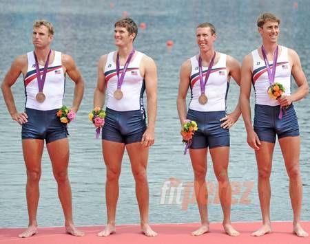 American Rower Gets Bronze Medal And Boner!