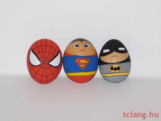 Szuperhős húsvéti tojások