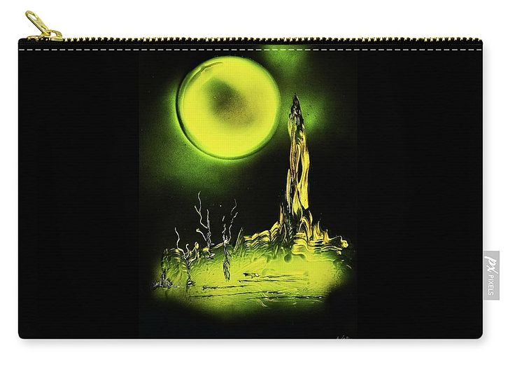 Land Of Rituals Carry-all Pouch  Printed with Fine Art spray painting image Land Of Rituals Nandor Molnar (When you visit the Shop, change the size, background color and image size as you wish)