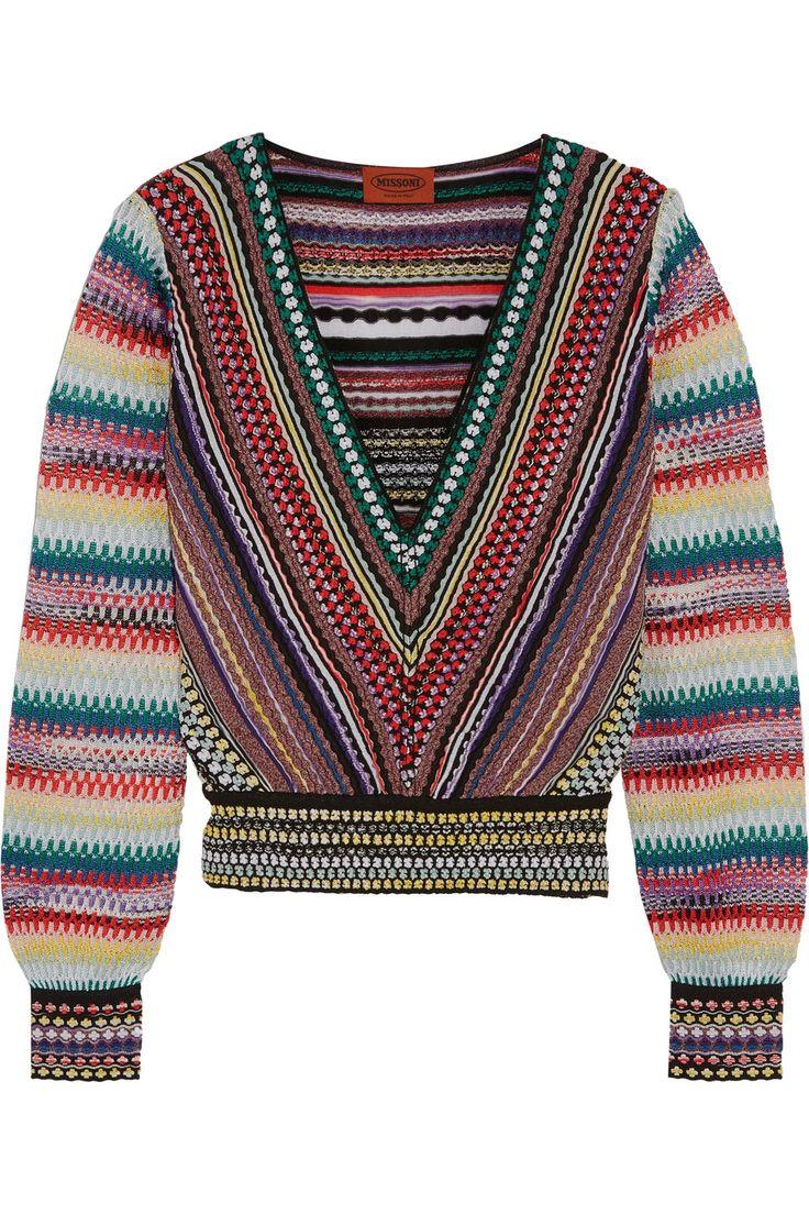 Missoni | Pull raccourci en crochet | NET-A-PORTER.COM