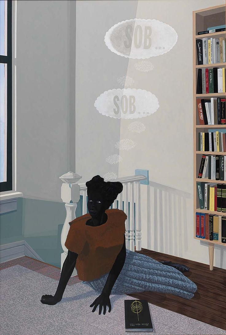 Kerry James Marshall, SOB, SOB, 2003, acrylic on fiberglass, Smithsonian American Art Museum, Washington, DC