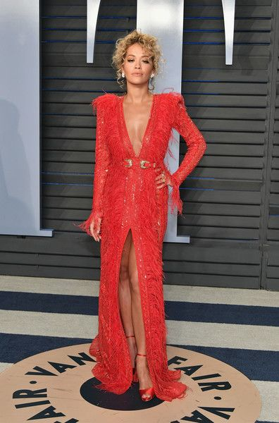 Rita Ora attends the 2018 Vanity Fair Oscar Party hosted by Radhika Jones at Wallis Annenberg Center for the Performing Arts on March 4, 2018 in Beverly Hills, California.