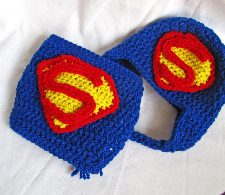 Superbaby / Superman crochet diaper cover set by handmadebyilzite, $30.00