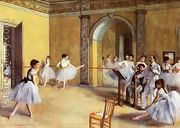 Dance Class at the Opera, rue Le Peletier  by Edgar Degas