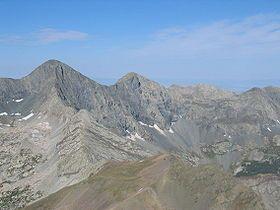 Blanca Peak ([left of center] Sangre de Cristo Range)