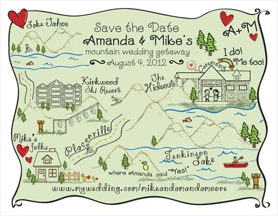 Honestly, I don't care who you are or where you are getting married:  send me a map like this and I will come.