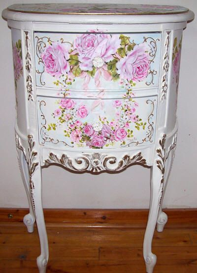High Quality Antique French Demi End Table