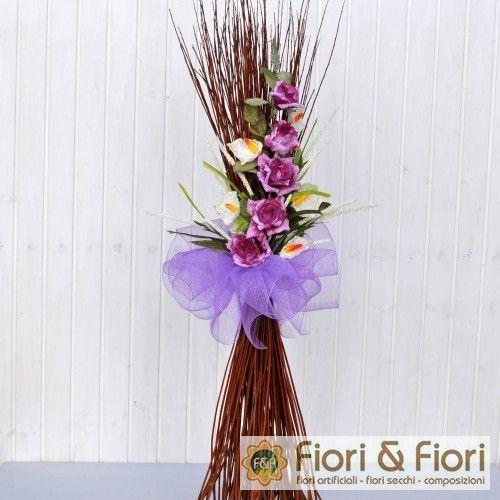 Decorazione fiori artificiali Rosita fucsia | Fiori & Fiori