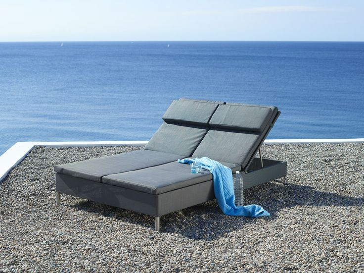 Rest - Double Sunbed - Grey