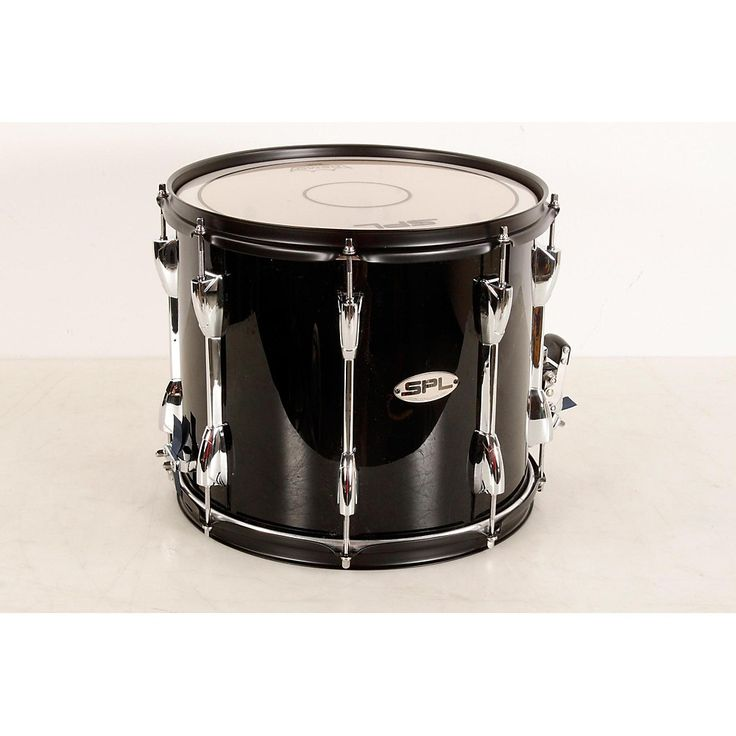 Sound Percussion Labs Marching Snare Drum with Carrier 13 x 11 in., Black 190839074447