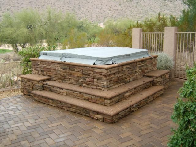 Pin By Erin Mccall On Pool Party Hot Tub Surround