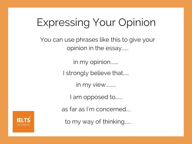 Ways to give your opinion in IELTS