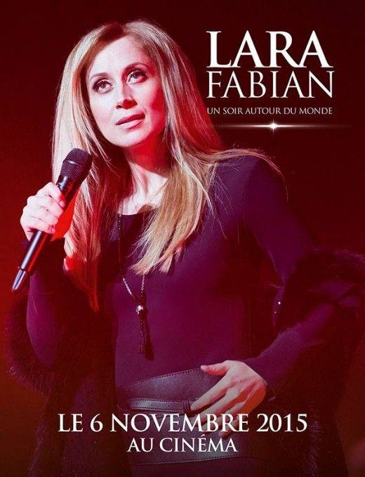 "Poster for Lara Fabian's ""Best Of"" tour concert cinema showcase."