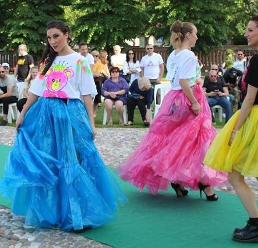 Quistello Dog Festival t-shirt orsacchiotto fuxia/flou