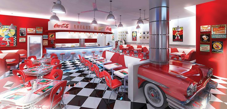 Thinking of going All Inclusive? The Olympic Lagoon Resort in Cyprus offers a 60's theme diner restaurant - Contact sales@totstoo.com for more information -