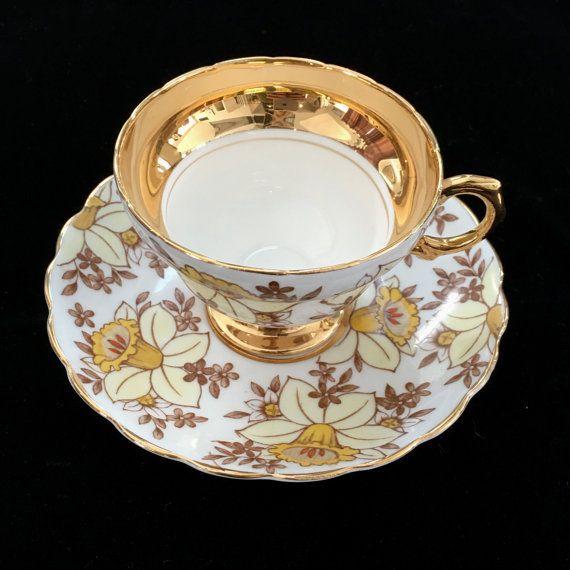 Taza de té Vintage glamorosos taza de té por VintageTeacupShop