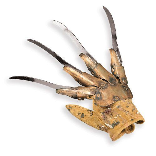 Freddy Krueger Nightmare On Elm Street Officially Licensed Real Metal Prop Glove   Freddy Krueger Nightmare On Elm Street Officially Licensed Real Metal Prop Glove This is the authentic Freddy Krueger Nightmare on Elm Street Knife Glove. This glove is rendered in highly realistic detail and made out of real metal. It looks frightening like the one worn by Freddy himself. This is as close to the movie as you can get! A true collectors' item.  http://www.beststreetstyle.com/freddy-kr..