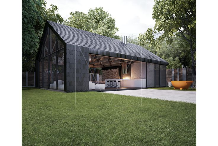 Raised in a modern barn. Armadillo Summer House by Sergey Makhno Architects