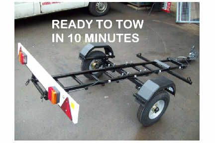 The STOWIT collapsible stoaway motorcycle trailer