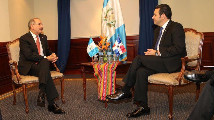 Jimmy Morales asume presidencia de Guatemala; Danilo Medina sostiene reunión bilateral