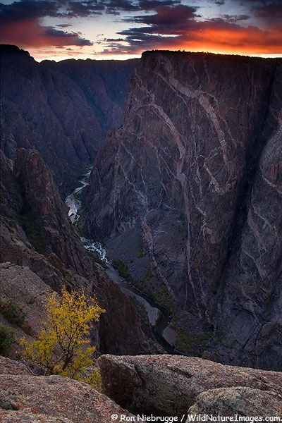 Painted Wall, South Rim of the Black Canyon of the Gunnison National Park, Colorado