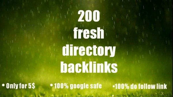 If you want to get more traffic, increase sales, or improve your site, you have to do well seo planning for your site. To improve website status, seo directory backlink is very very important. If you looking for a experienced seo expert, I am here!  I will provide for you 200 fresh  directory backlink relevant your site.  Links will be done manually PR 3-10 100% google safe 100% seo friendly No spamI will be done this work within 2 days. fiverr/ekramul193