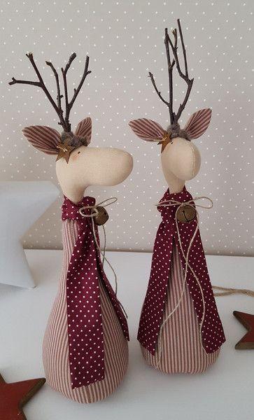 RESERVIERT für CHRISTEL Weihnachts- Elche Rentier  von Feinerlei auf DaWanda.com