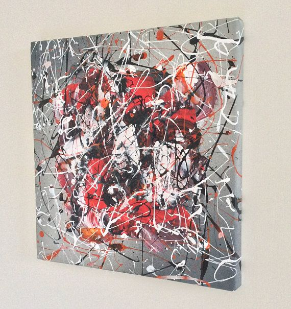 Small Original Abstract Painting acrylic on stretched canvas