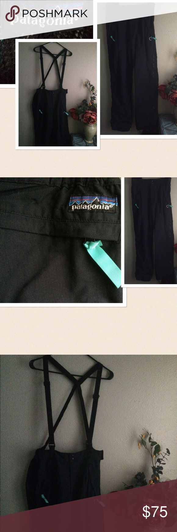 "Patagonia Ski Snow Bib Shell Overall Pants Unisex Patagonia Winter Snowboard Ski Bib Pants. Maybe unisex. Side zipper from top to bottom. 2 zipper side pockets and one at the back. 1 zipper back pocket. Adjustable waist with snap button closure. Size: 34. Length from pants waist: 42.5"" Seam: 32.5"". Preowned with some drag marks at the bottom. Otherwise in Great condition. If this condition is not right for you do not purchase. Patagonia Pants"