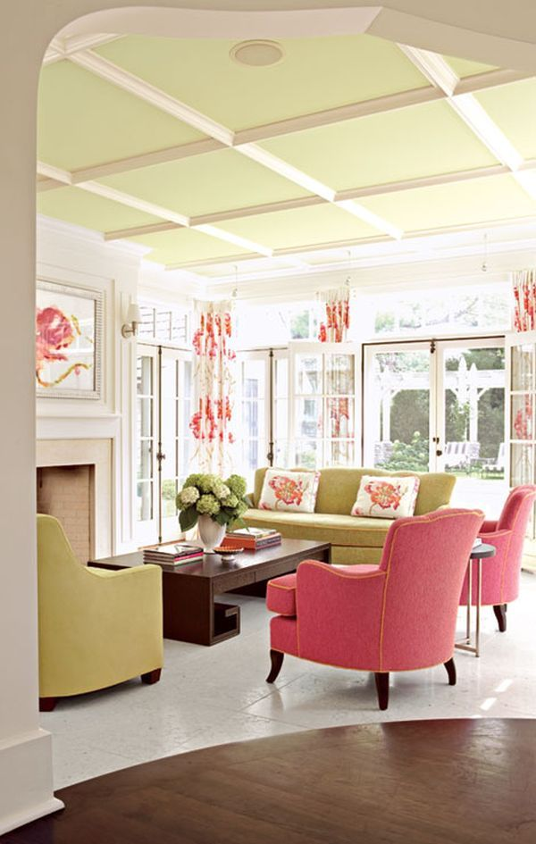 Susan Gilmore, Pink home ideas, green home ideas, Minneapolis home, white kitchen, preppy, chic, pink chairs, pink curtains, white kitchen