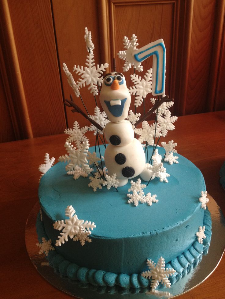 Frozen themed mud cake