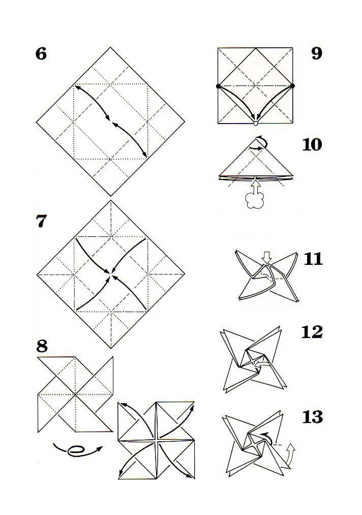 origami flowers diagrams