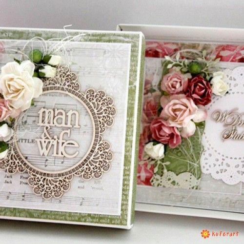 Kartka na ślub z pudełkiem - Kartki Ślubne - Papier