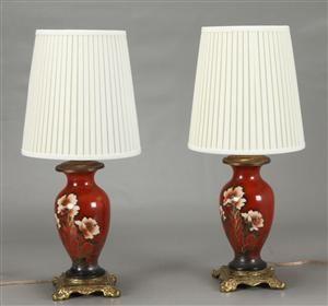 Vare: 3509464Par bordlamper - bojaner med tilhørende skærme