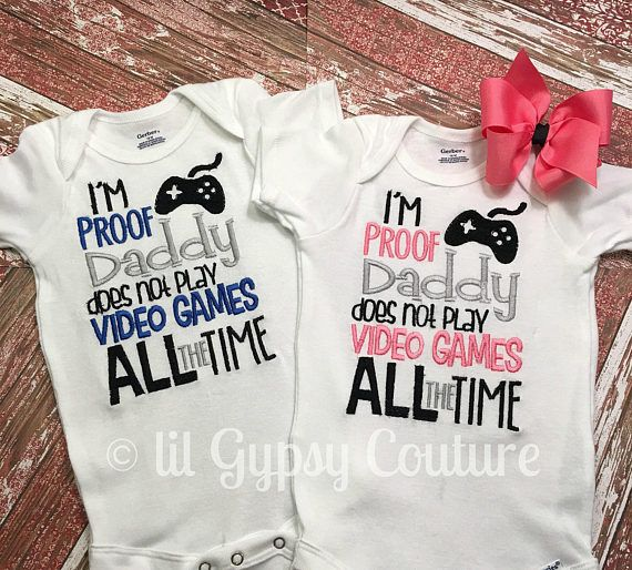 Pregnancy eveal Twins shirts Fathers day New baby Baby, Pregnancy reveal, Fathers day shirt, New baby, Baby boy, Baby girl, Baby shower gift, Boutique shirts, Boutique clothes, Boutique baby clothes, Video game, Embroidery, Twins, Twins outfits, Baby gown, Baby layette, Boutique baby gown ,, Boutiquelayette
