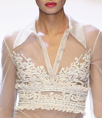 Valentino--not sure where one would wear this, even in another life, but it's beautiful.