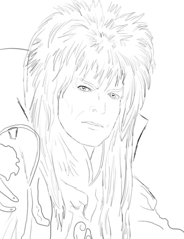 Coloring David Bowie Labyrinth Coloring Pages Labyrinth Coloring Pages